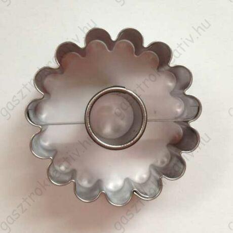 Linzer kiszúró kör közepű virág 5 cm (linzer felső)