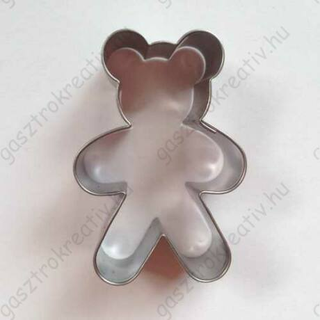 Linzer kiszúró maci sütikiszúró 5 x 3,5 cm - alsó linzer