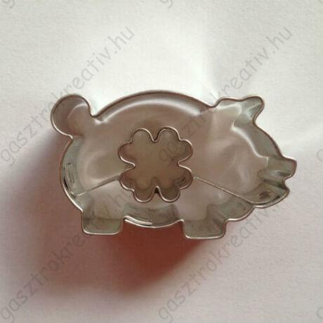Lóhere közepű malac linzer kiszúró, sütikiszúró 4,5 cm