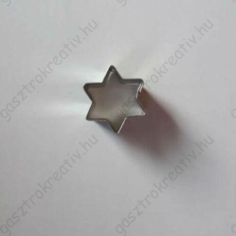 Mini csillag linzer közép forma, linzer kiszúró 1,9 cm