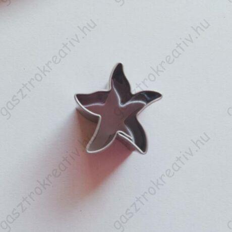 Mini csillag, tengeri csillag linzer közép kiszúró, linzer kiszúró 2 x 2,2 cm