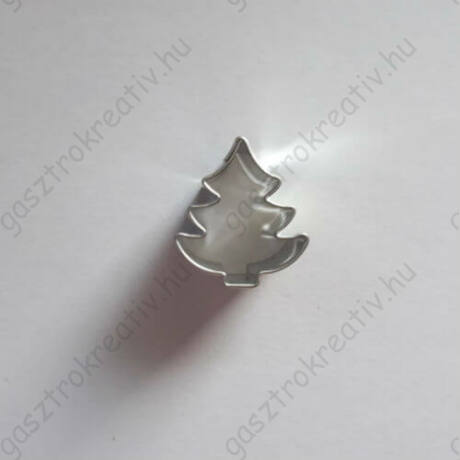 Mini fenyőfa linzer közép, karácsonyi linzer kiszúró 2,2 cm