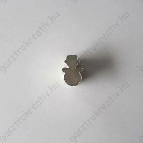 Mini hóember linzer közép, karácsonyi linzer kiszúró forma 1,8 cm