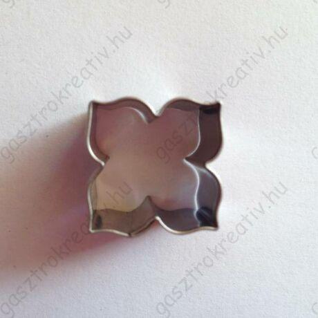 Mini rozetta virág linzer közép kiszúró, linzer kiszúró 2 cm