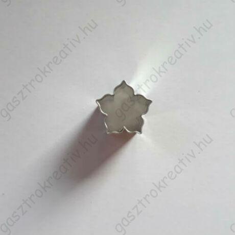 Mini rózsa linzer közép kiszúró, linzer kiszúró 1,6 cm