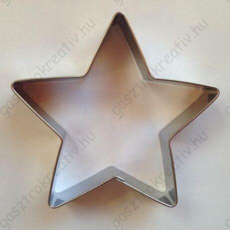 Nagy csillag sütikiszúró forma 5 ágú 11,2 x 11,2 cm