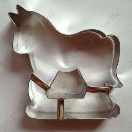 Nagy lovas sütikiszúró, mézeskalács forma 9,5 cm
