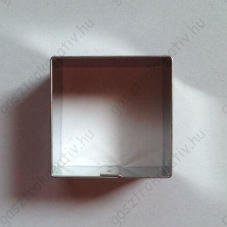 Négyzet süti kiszúró, linzer kiszúró 3,5 cm