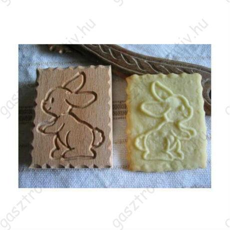 Nyuszi mintás fa sütipecsét