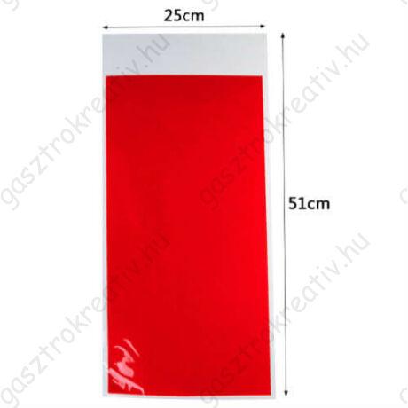 Piros nagy ajándék zacskó, mikulás zacskó 12 db