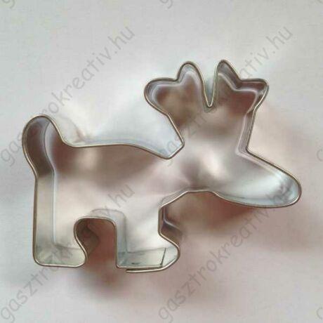 Rénszarvas kiszúró cuki fém karácsonyi forma 5,2 x 6,7 cm