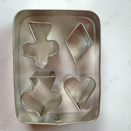 Römi kártya sütikiszúró, linzer kiszúró készlet 6,5 cm 5 db-os