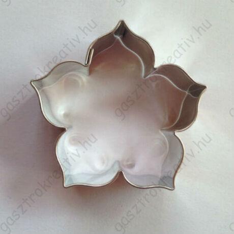 Rózsa alakú süti kiszúró, linzer kiszúró 4,4 cm