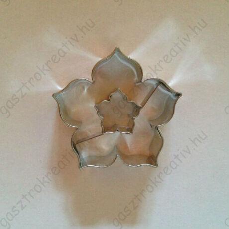 Rózsa közepű rózsa linzer kiszúró forma 4,4 cm