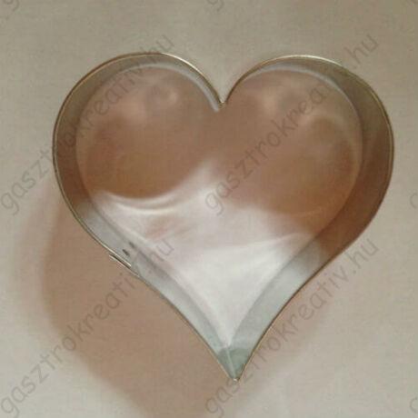 Szív alakú kiszúró, mézeskalács formák 6 cm