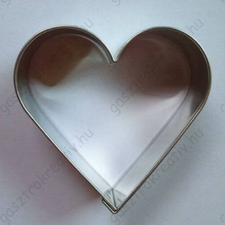 Szív linzer kiszúró, sütikiszúró 5,4 cm