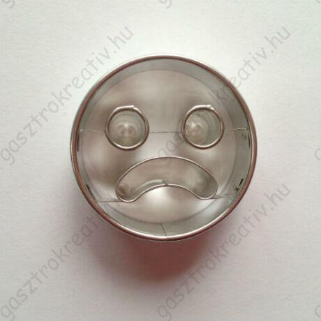 Szomorú arc linzer kiszúró forma 5 cm - felső