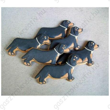Tacskó kutyus állatos kiszúró forma 8 cm