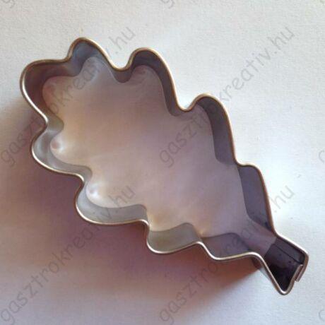 Tölgyfalevél fém sütikiszúró 5,8 x 2,9 cm