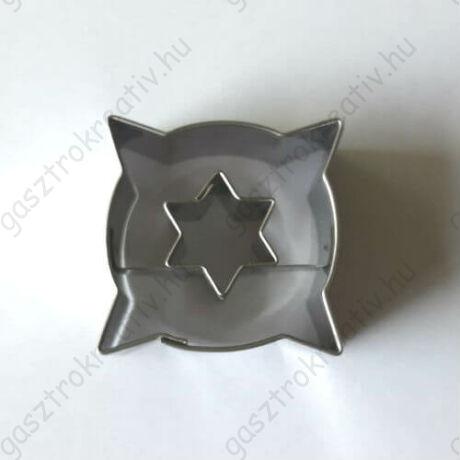 Csillag közepű párna alakú linzer kiszúró 3,6 cm