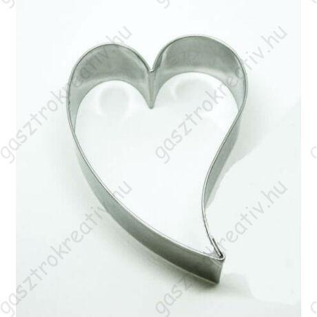 Ferde szív sütikiszúró forma 6,9 cm Valentin napra