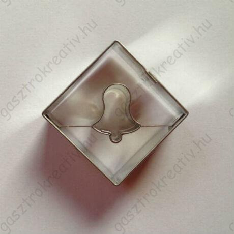 Harang közepű négyzet linzer kiszúró 3,5 cm