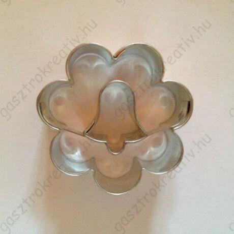Harang közepű virág karácsonyi linzer kiszúró forma 3,8 cm
