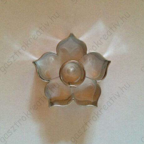 Kör közepű rózsa linzer kiszúró forma 4,4 cm