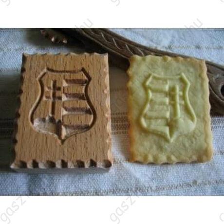 Kossuth címer fa sütemény pecsét