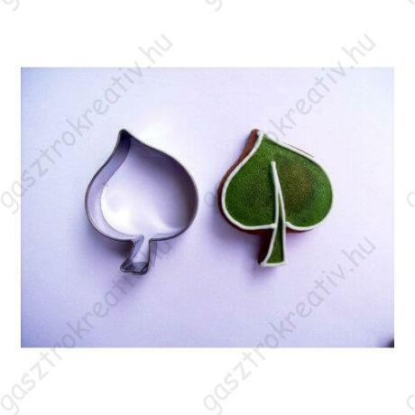 Levél sütikiszúró forma 4,5 cm