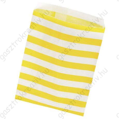 Sárga csíkos papírzacskó 25 db
