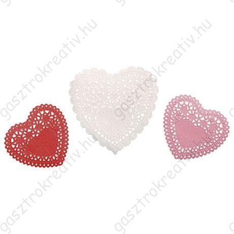 Kis szív tortacsipke 60 db-os csomag