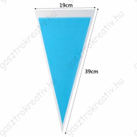 Világoskék háromszög tasak, cukorkás zacskó 12 db