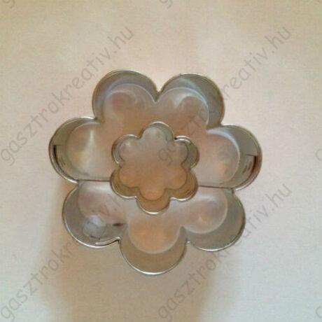 Virág közepű virág linzer kiszúró forma 3,8 cm