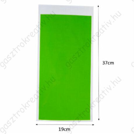 Zöld ajándéktasak, ajándék zacskó 12 db