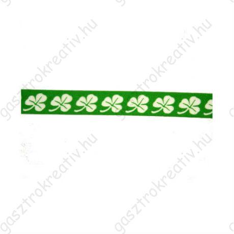 Zöld fehér lóherés öntapadós papír dekortapasz, washi tape 15 mm x 10 m